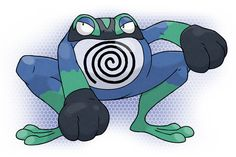Mega Poliwrath Water / Fighting Source. Artist: pokeluka