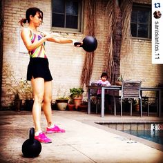 You can get a #kettlebell workout in almost anywhere for #fitfriday like our loyal friend and  customer @sarasantos.11