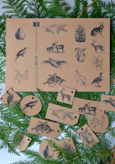 Free downloadable gift tags from Decorator's Notebook 14 designs. I love the woodland animals! They printed beautifully.