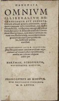 [storia del costume - antiquaria] Antichi mestieri: PANOPLIA, Hartman Schopper > http://forum.nuovasolaria.net/index.php/topic,2360.msg37939.html#msg37939
