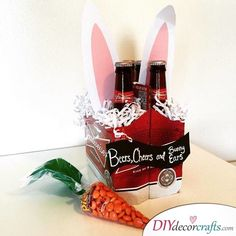 Here's our pick of 30 fantastic Easter gifts for adults. Make sure it's not all about the kids and make some Easter Crafts for Adults! Holiday Gift Baskets, Gift Baskets For Men, Easter Gift Baskets, Holiday Gifts, Birthday Present For Boyfriend, Presents For Boyfriend, Easter Gift For Adults, Beer Basket, Easter Presents
