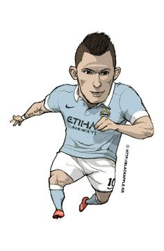 Manchester City No.10 Sergio Aguero Fan Art