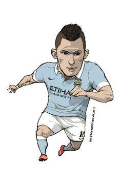 Manchester City No.10 Sergio Aguero Fan Art