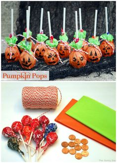 Pumpkin Pops are a fun take on the traditional ghost pops. #halloween #trickortreat #kidscrafts
