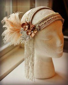 Custom wedding headdress by the Verdant Muse Tribal Fusion, Belly Dance Outfit, 1920s Hair, High Fashion Makeup, Gatsby, Fancy Hats, Fairy Makeup, Mermaid Makeup, Makeup Art