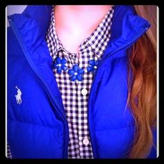 My Posh Picks CLEARANCERalph Lauren Sport Puffer Vest Worn once! Beautiful royal blue color, so soft and cozy! Rainy Day Outfit For School, School Outfits, Outfit Of The Day, Puffer Vest Outfit, Vest Outfits, Royal Blue Color, Ralph Lauren Jackets, Vests, Cozy