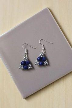 How to Make 2-Hole Seed Bead Triangle Earrings | Jewelry Pinn
