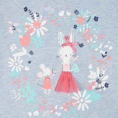 bluezoo Babies light blue bunny print peplum top- at Debenhams.com
