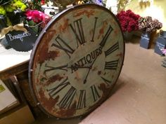 Rustic Antiques Clock   Huge shabby chic wall accent!   Ballard & Blakely Hours: Tuesday - Saturday 10:00 a.m. to 5:00 p.m. 5021 West Lovers...