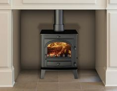 This multi-fuel stove has a powerful presence, with an average of 4kW heat output.; Supply and Install for £1480 with chimney liner and fittings.