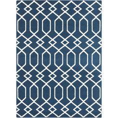 Surya Horizon Cobalt Geometric Area Rug & Reviews | Wayfair