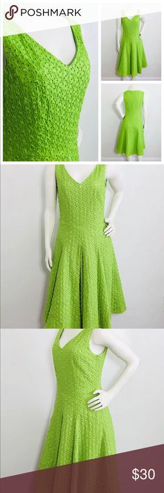 Lafayette 148 Green Eyelet Embroidery Dress Lafayette 148 Green Eyelet Beaded Embroidery Dress   Size 4  No belt Lafayette 148 New York Dresses