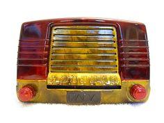 Vintage 1940s Fada Art Deco Mid Century Bakelite Radio Quality Restoration | eBay