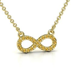 Mother's diamond infiniti neclace | ... Gold Necklace with Citrine | Petite Pave Infinity Pendant | Gemvara