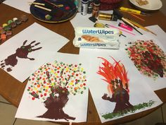 Fall Craft Idea for Toddlers at www.idyllicpursuit.com #WaterWipesMom #IC #ad @WaterWipesUSA