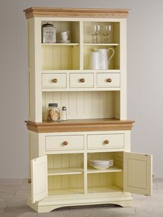 Country Cottage Natural Oak and Painted Dresser
