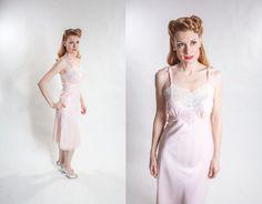 1940s Full Slip in Bur Mil Rayon #vintage #burmil #rayon #pinup #slip #lingerie #1940s