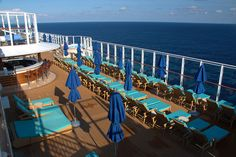 Norwegian Escape Vibe beach club Private deck space via a weekly pass www.JillsGreatEscapes.com