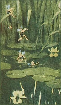 """Jessie Willcox Smith """"The Fairies` Picnic"""" (detail) from """"The Way to Wonderland"""" 1917 Fairy Wallpaper, Vintage Fairies, Nature Aesthetic, Fairytale Art, Photo Wall Collage, Fairy Art, Goblin, Cute Wallpapers, Aesthetic Wallpapers"""