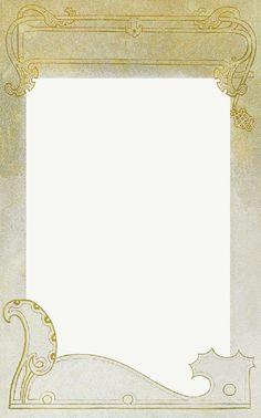 Art Nouveau Frame ~ LÁMINAS ANTIGUAS 3-Ideas y Trabajos terminados (pág. 802)