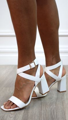 Product details: Sandals High block heel Open toe Crisscross ankle strap Buckle fastening Heel high approx: 9,5cm Ankle Strap Sandals, Online Boutiques, Criss Cross, Block Heels, Open Toe, Fashion Online, High Heels, Shoes, Products