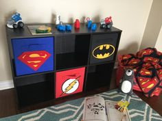 Hey, I found this really awesome Etsy listing at https://www.etsy.com/listing/262781350/superhero-storage-bin-set-superman