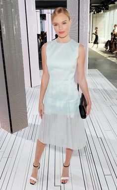 Kate Bosworth Hugo Boss fashion show S/S 15 outfit via @WhoWhatWear