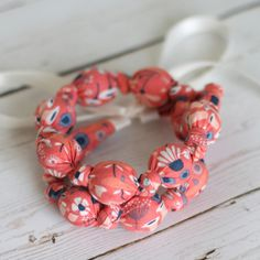 Organic Nursing Necklace - Coral Meadows