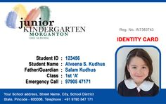 Beautiful Student Id Card Templates Desin And Sample Word File School Resources