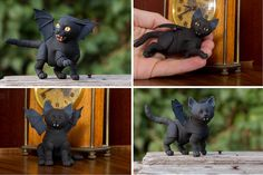 3D printed ball jointed winged kitten by WalloyaMorringShop