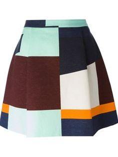 Msgm Striped Skirt - Twist'n'scout - Farfetch.com