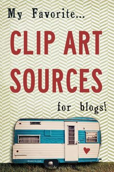 Clip Art Resources (For Blogs!) // Find it here: http://www.inwardfacinggirl.com/blog/clip-art-resources-for-blogs.html