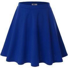 Doublju Women Plus-size Versatile Strechy Flared Skater Skirt ($9.98) ❤ liked on Polyvore featuring skirts, bottoms, saia, plus size skater skirt, flare skirt, womens plus size skirts, plus size knee length skirts and flared hem skirt