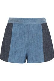 Madison two-tone chambray shorts