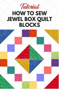Learn to make this beautiful and traditional quilt block with the step-by-step tutorial from NewQuilters.com. Scrap Quilt Patterns, Beginner Quilt Patterns, Quilting For Beginners, Quilting Tutorials, Quilting Designs, Patchwork Quilting, Scrappy Quilts, Quilting Ideas, Big Block Quilts