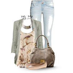 A fashion look from September 2014 featuring H&M tops, Forever 21 cardigans and H&M jeans. Browse and shop related looks.