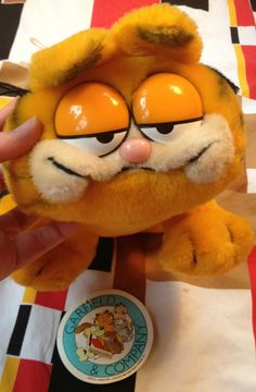 80s Garfield Plush Toy by lishyloo on Etsy, $10.00