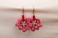 Beaded crochet necklace crochet earings