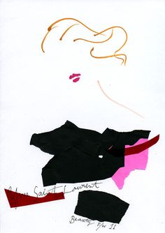 """ YSL Beauty F/W 11""  the MUSE of YSL."