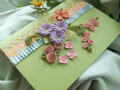 Wow! I love quilled flowers