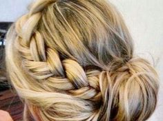 I got: Braided Up-Do! What Hairstyle Should You Rock At Your Quince?