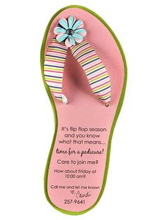 Flip-Flop Card from BHG - fun summer party or BBQ #invitation!