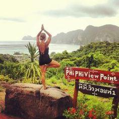 Tree pose, yoga in thailand, asia, koh phi phi islands Thailand Travel Guide, Visit Thailand, Phuket Thailand, Asia Travel, Thailand Honeymoon, Thailand Adventure, Travel City, Croatia Travel, Hawaii Travel