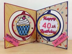 Old Red Shed: Happy 40th circle pivot card...