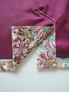 how to sew a back pleat with lining, very great tutorial