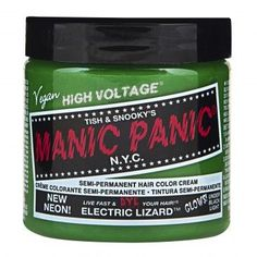 Manic Panic Classic Cream Hair Dye, Electric Lizard at I Kick Shins