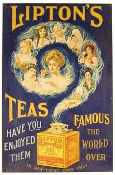 Lipton tea ad,  1900