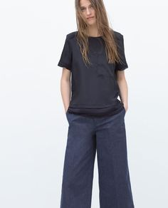 ZARA - WOMAN - TOP WITH LAYERED HEM AND YOKE