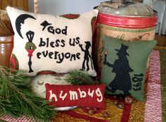 NEW! #260 Christmas Carol Wool Appliqué Pattern