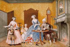 Archduchess Marie Christine: Feast of St Nicholas, gouache 1762